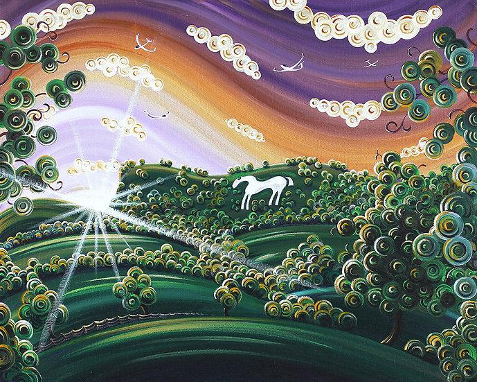 Sunset on the White Horse