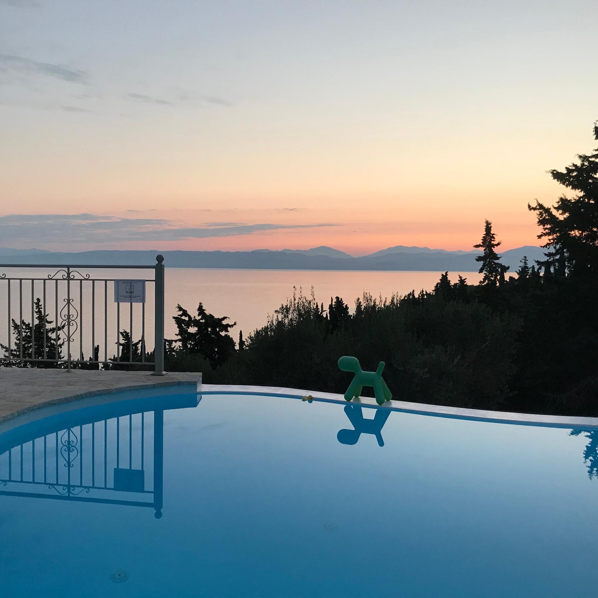 Sunrise at the villa