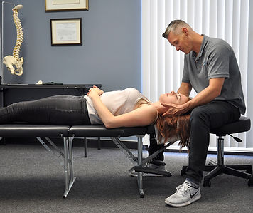 Neck pain, heachache chiropractic adjustment