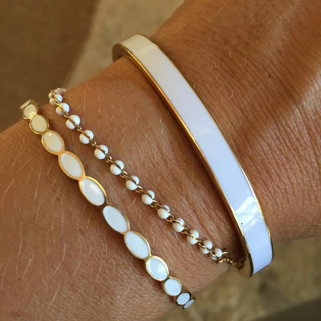 Bracelets en superposition