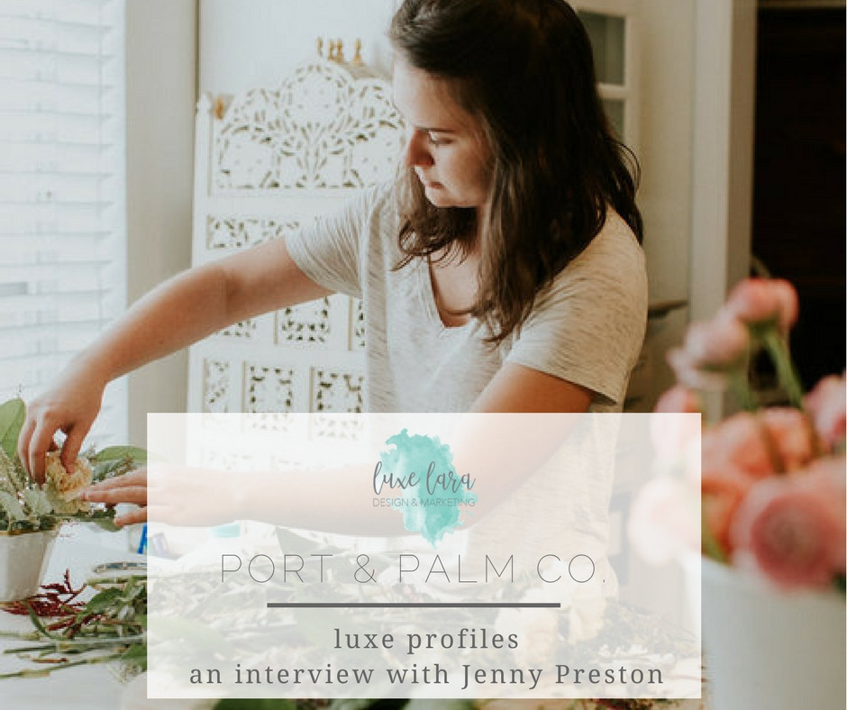 Jenny Preston, Owner Port Palm + Co | Photo by Lauren Louise Photography