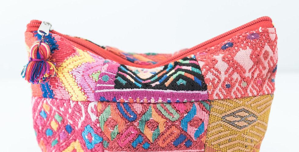 Cosmetic Patchwork Bag: Medium