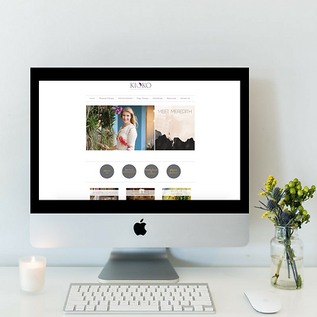 Website Design for Kioko Therapy in Boca Raton by Luxe Lara Design