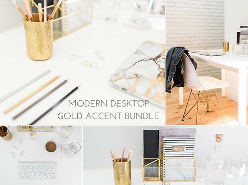 Modern Desktop   15 Pc. Gold Accent Bundle