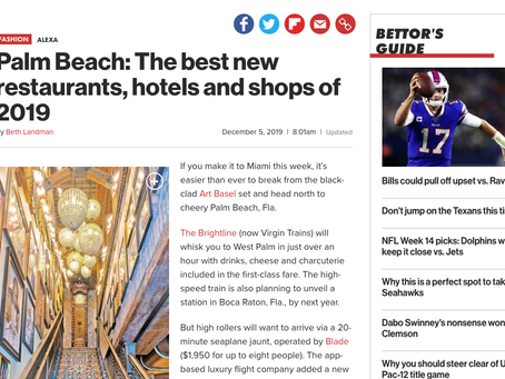 New York Post Features The Best New Restaurants, Hotels and Shops in Palm Beach