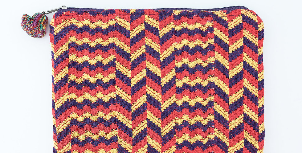 Huipil Weave Case: Orange