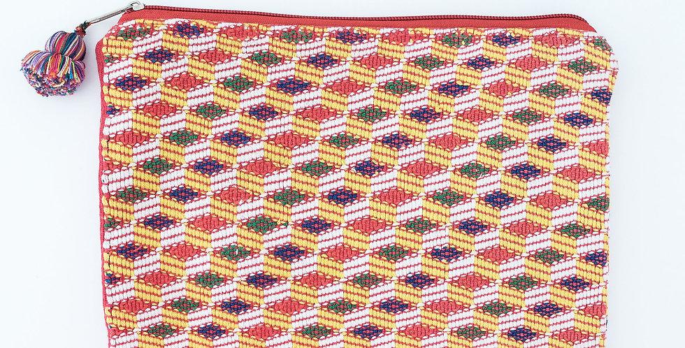 Huipil Weave Case: Orange & Green
