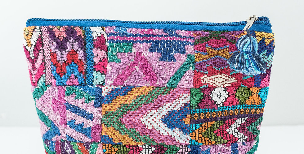 Cosmetic Patchwork Bag: Large