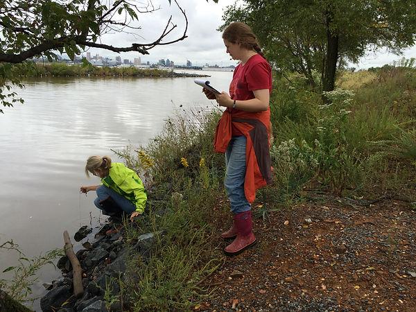 Volunteers streamside sampling.JPG