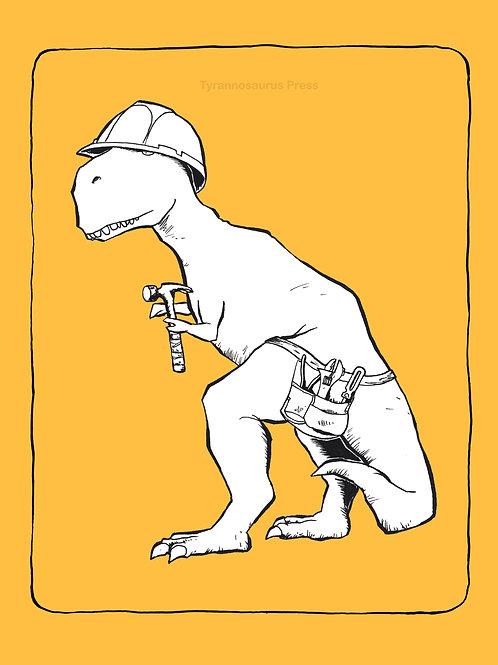 T-Rex Construction 8x10 Print