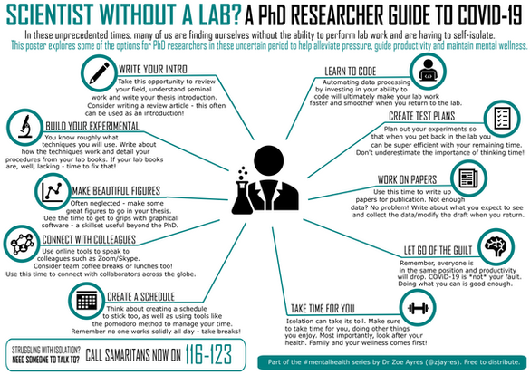 Scientist without a lab? A PhD researcher guide to COVID19
