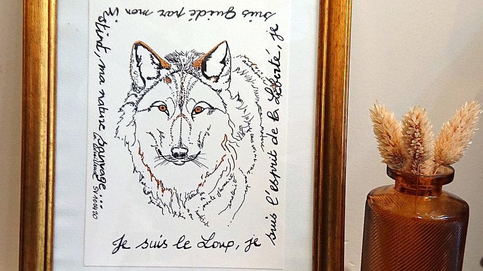 """""""Le Loup"""", imprimé signature vibratoire"""