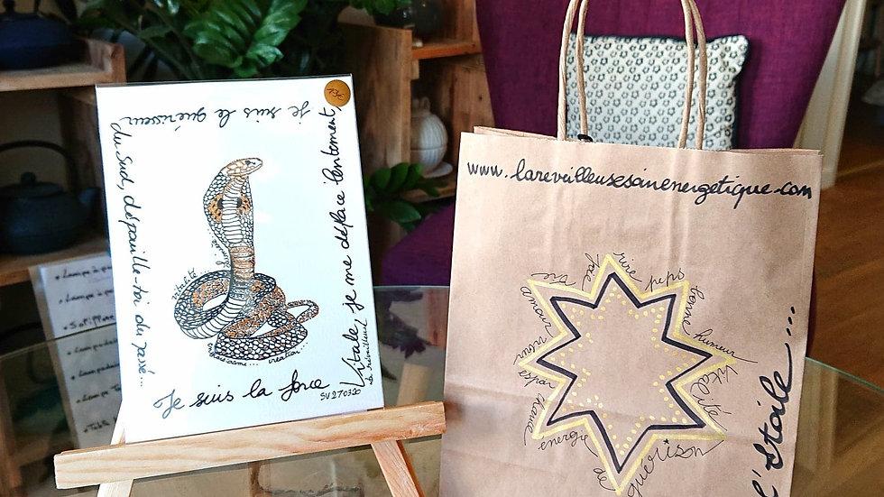 """""""Kâ le Serpent"""", imprimé Signature Vibratoire"""