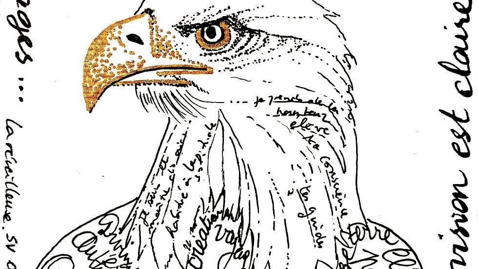 """""""L'Aigle"""", imprimé Signature Vibratoire"""