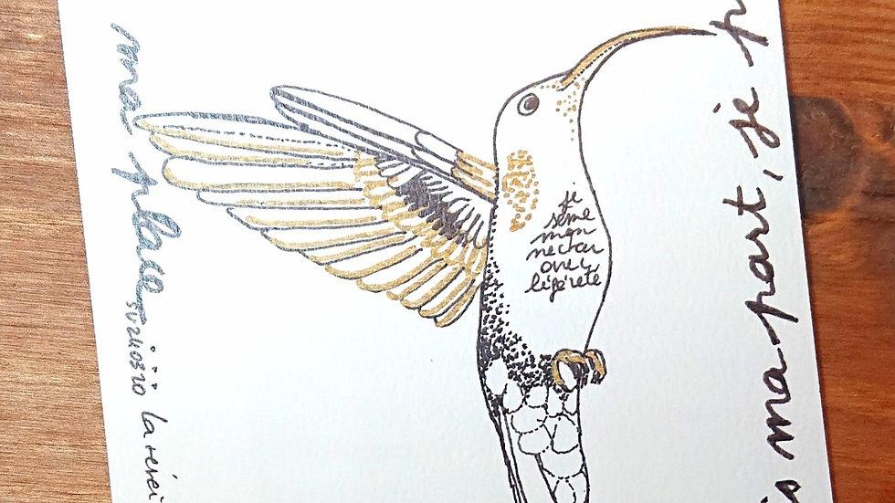 """Imprimé """"le colibri"""""""