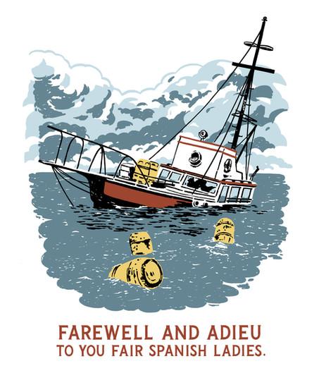 Jaws Farewell & Adieu Tee