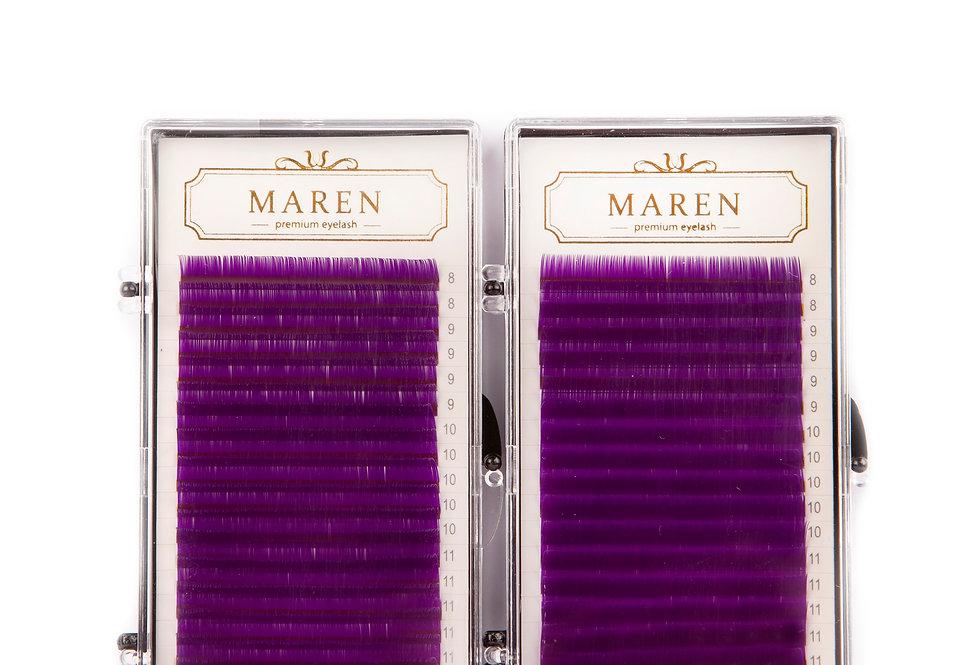 Colour Lashes | Purple (Mixed)