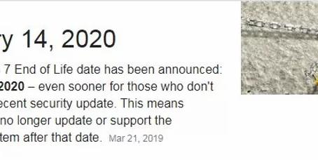 Windows 7 End Of Life Upgrade