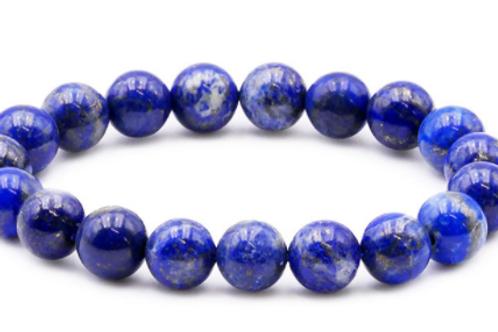 Bracelet Boule 10mm Lapis-lazuli A