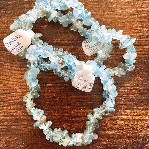 Bracelet Baroque Apatite Bleue AA