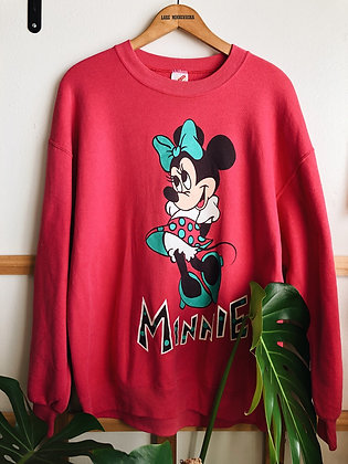 Early 80s Minnie Pink Pullover
