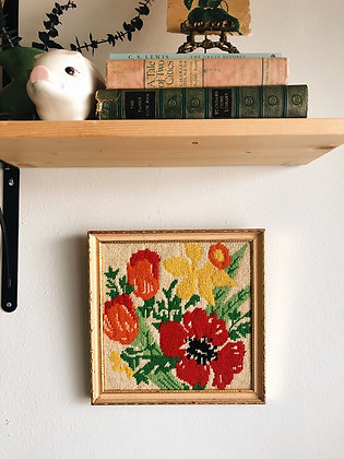 Bright Embroidered Flowers