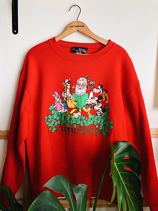 Santa and Disney Friends Pullover
