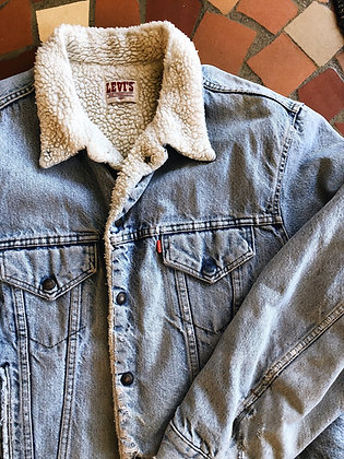 Perfectly Distressed Levi's Sherpa Jacket