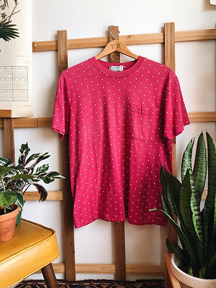 Pink Polka Dotted Tee