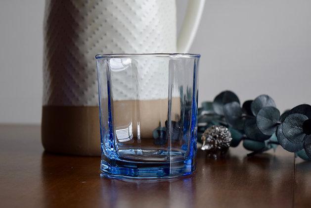 Vintage Blue Whiskey Glass