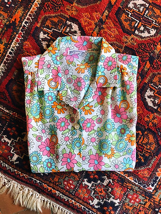 70s Patterned Blouse