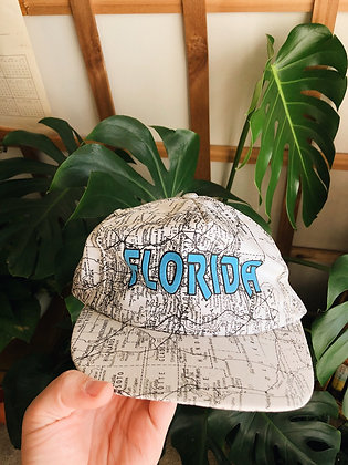 90s Florida Map Hat