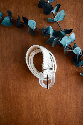Retro Clear Buckled Belt