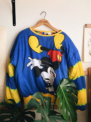 80s DonnKenny Reversible Disney Puffer Pullover