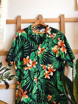 Hawaiian Style Button Up