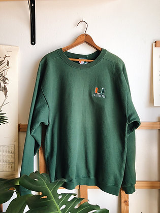 University of Miami Embroidered Pullover