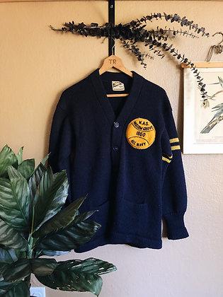 1969 Navy Varsity Sweater