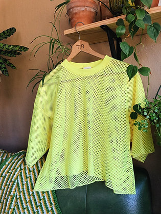 Neon Yellow Cropped Penny Jersey