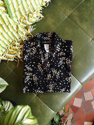 Micro Floral Button Up