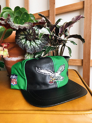 RARE Leather Eagles Hat