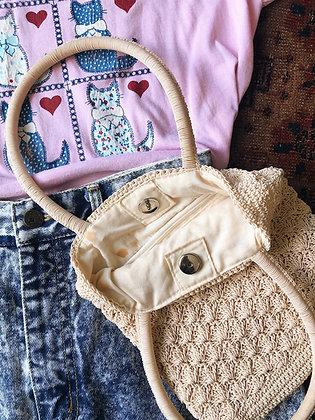 Woven Glossy Handbag