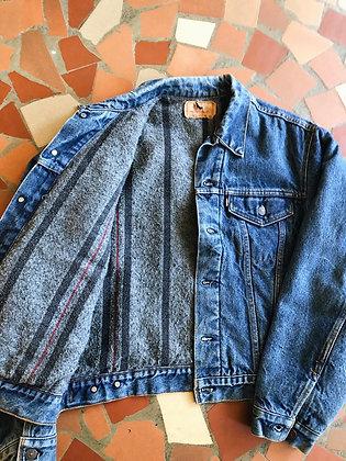 Flannel-Lined Levi's Trucker Jacket