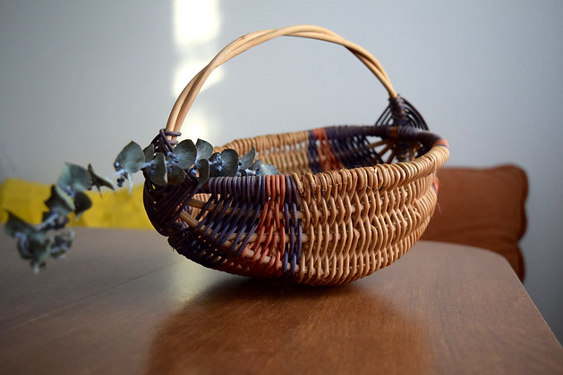 Vintage Colorful Woven Basket