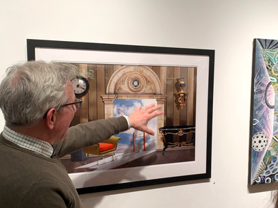 Discussing my work at Pleiades Gallery, NYC