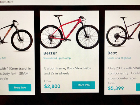 How I divide bikes into Good, Better & Best...