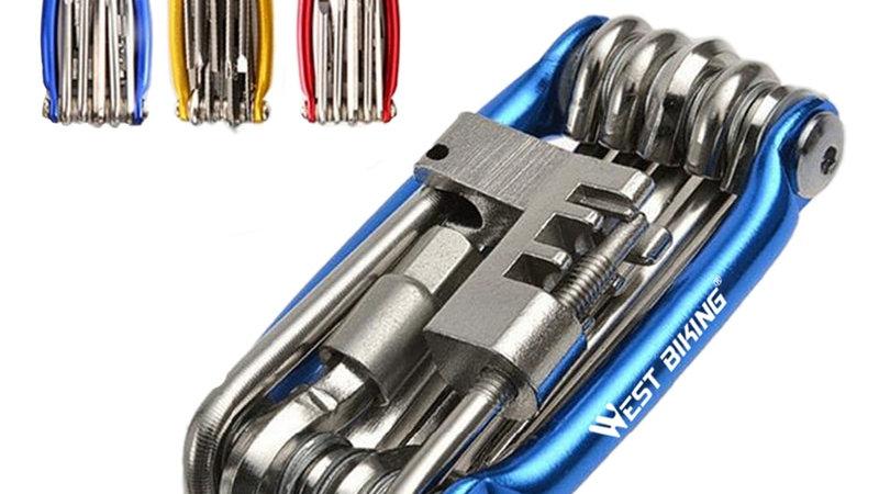 WEST BIKING Multitool Bicycle Repair Tools Chain 10 in 1 Kit