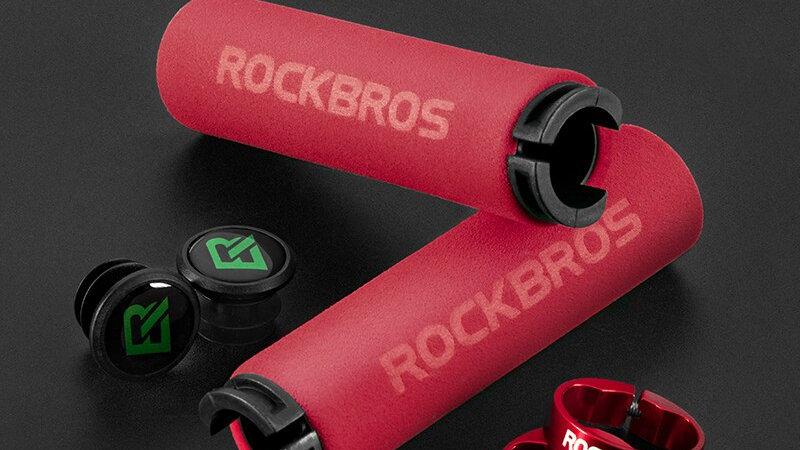 ROCKBROS Bicycle Grips MTB Foam Handlebar Grips Shock-Absorbing Soft Bike Grips