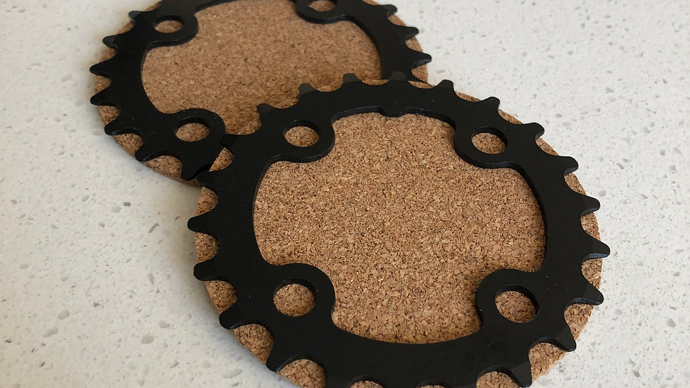 22t MTB Sprocket Coasters (set of 4)