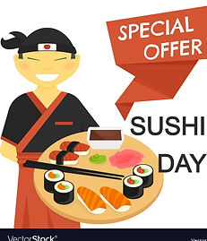 sushi-chef-with-special-offer-banner-vec