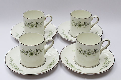 Set of 4 Wedgewood espresso cups and saucers